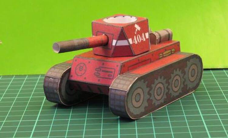 Поделка Танк из различных материалов: отличный подарок на 23 февраля tank svoimi rukami 1
