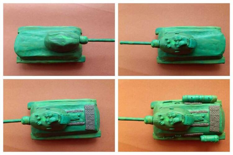 Поделка Танк из различных материалов: отличный подарок на 23 февраля tank svoimi rukami 102