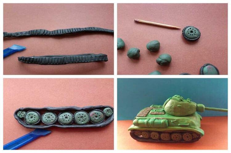 Поделка Танк из различных материалов: отличный подарок на 23 февраля tank svoimi rukami 104