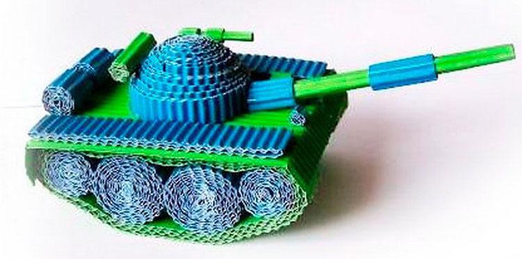 Поделка Танк из различных материалов: отличный подарок на 23 февраля tank svoimi rukami 105