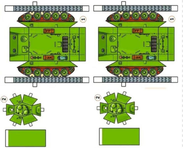 Поделка Танк из различных материалов: отличный подарок на 23 февраля tank svoimi rukami 124