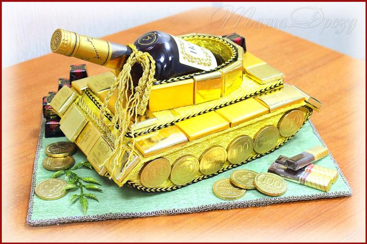 Поделка Танк из различных материалов: отличный подарок на 23 февраля tank svoimi rukami 129