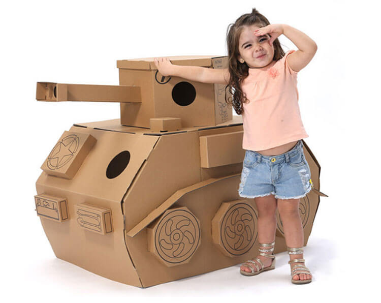 Поделка Танк из различных материалов: отличный подарок на 23 февраля tank svoimi rukami 50
