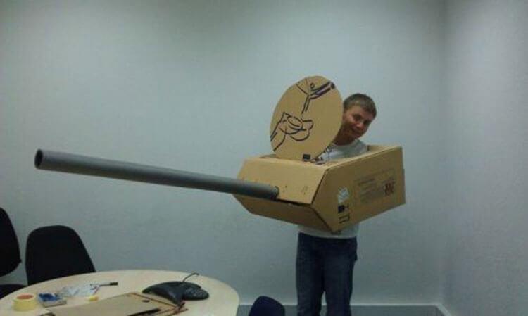 Поделка Танк из различных материалов: отличный подарок на 23 февраля tank svoimi rukami 51