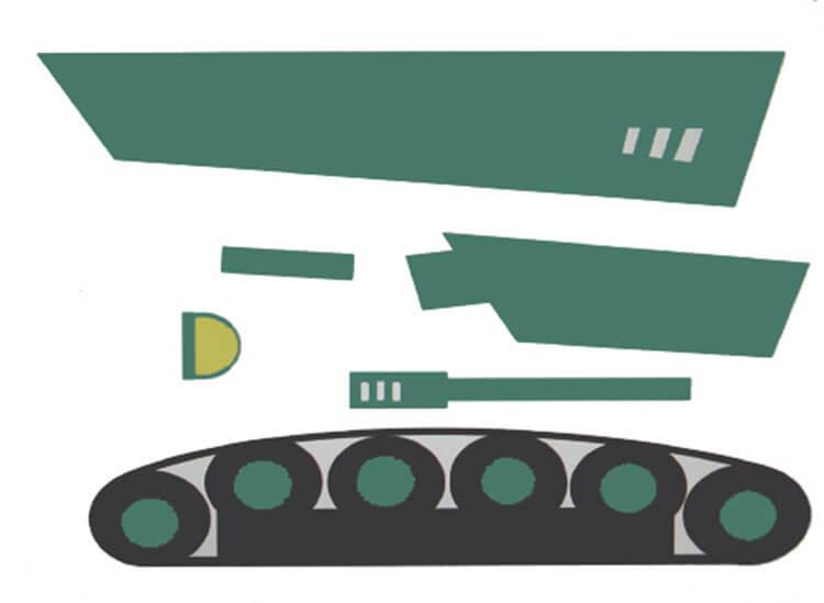 Поделка Танк из различных материалов: отличный подарок на 23 февраля tank svoimi rukami 60