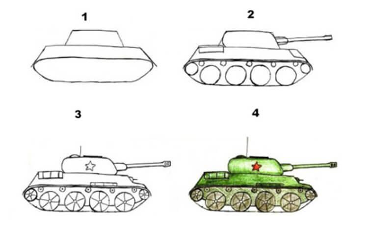 Поделка Танк из различных материалов: отличный подарок на 23 февраля tank svoimi rukami 75