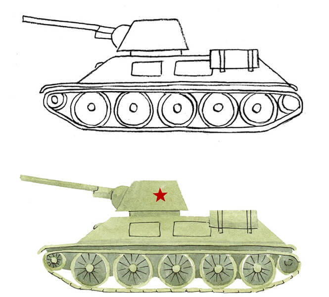 Поделка Танк из различных материалов: отличный подарок на 23 февраля tank svoimi rukami 77