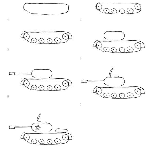 Поделка Танк из различных материалов: отличный подарок на 23 февраля tank svoimi rukami 82