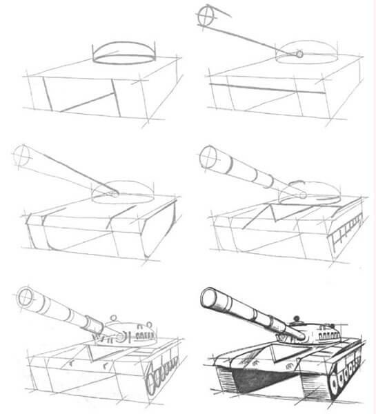 Поделка Танк из различных материалов: отличный подарок на 23 февраля tank svoimi rukami 85