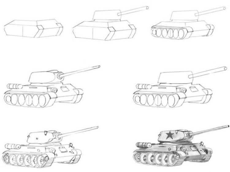 Поделка Танк из различных материалов: отличный подарок на 23 февраля tank svoimi rukami 87