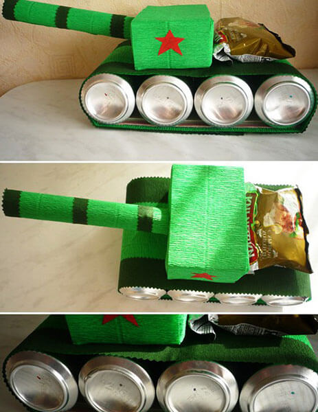 Поделка Танк из различных материалов: отличный подарок на 23 февраля tank svoimi rukami 98