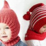 Шапка шлем для взрослых и детей: вяжем головной убор спицами
