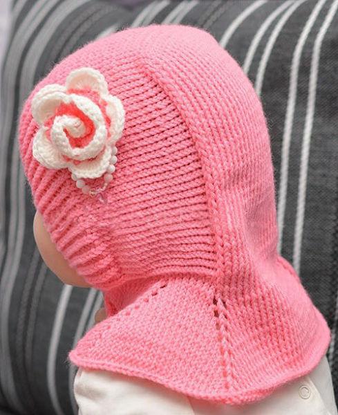 Шапка шлем для взрослых и детей: вяжем головной убор спицами viazanie shapki shlema 2