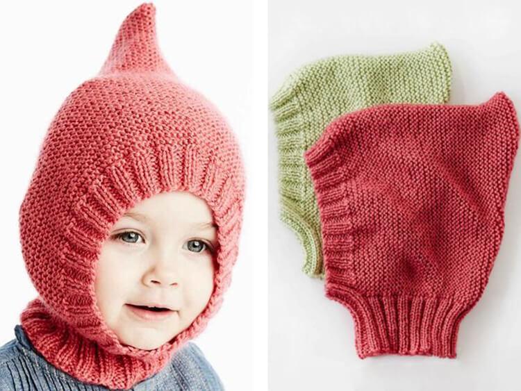 Шапка шлем для взрослых и детей: вяжем головной убор спицами viazanie shapki shlema 33
