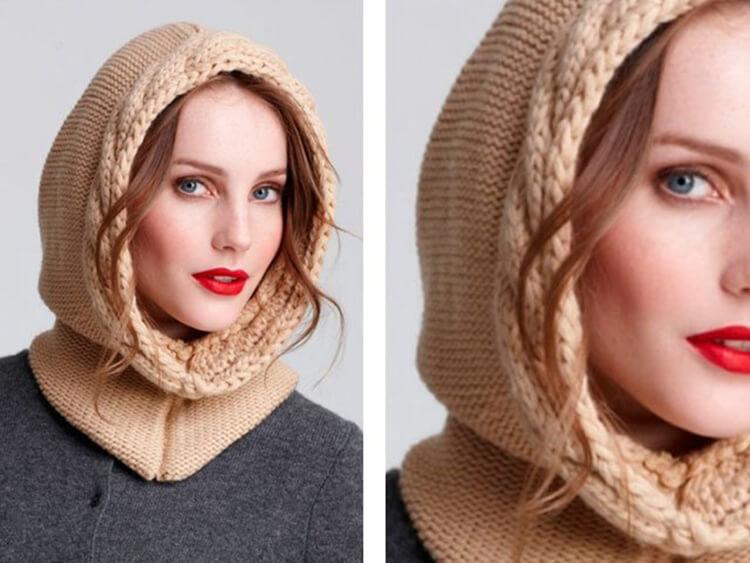 Шапка шлем для взрослых и детей: вяжем головной убор спицами viazanie shapki shlema 35