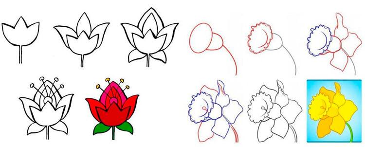 Что можно нарисовать на 8 марта для мамы и бабушки 25 29