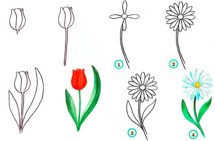 Что можно нарисовать на 8 марта для мамы и бабушки 27 28