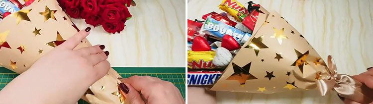 Красивый и сладкий букет из конфет на 8 марта: мастер классы с фото 28 29 1