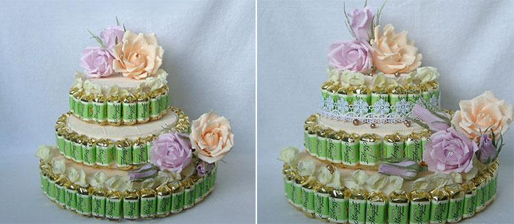 Красивый и сладкий букет из конфет на 8 марта: мастер классы с фото 97 98