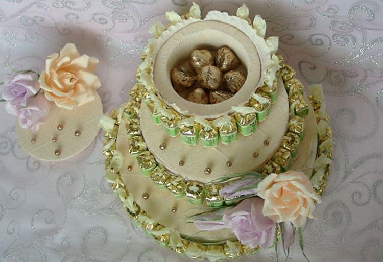 Красивый и сладкий букет из конфет на 8 марта: мастер классы с фото bukety iz konfet svoimi rukami 100