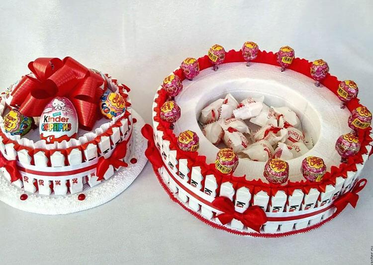 Красивый и сладкий букет из конфет на 8 марта: мастер классы с фото bukety iz konfet svoimi rukami 101