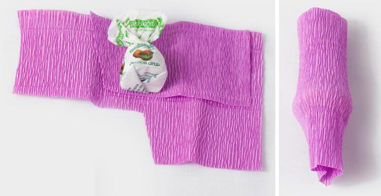 Красивый и сладкий букет из конфет на 8 марта: мастер классы с фото bukety iz konfet svoimi rukami 6