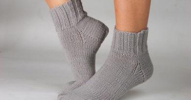 Как связать красивые носки спицами: варианты вязания на 2х и 5ти спицах