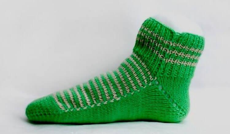 Как связать красивые носки спицами: варианты вязания на 2х и 5ти спицах kak svyazat noski 23
