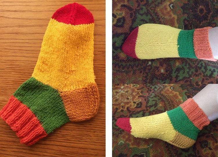 Как связать красивые носки спицами: варианты вязания на 2х и 5ти спицах kak svyazat noski 24