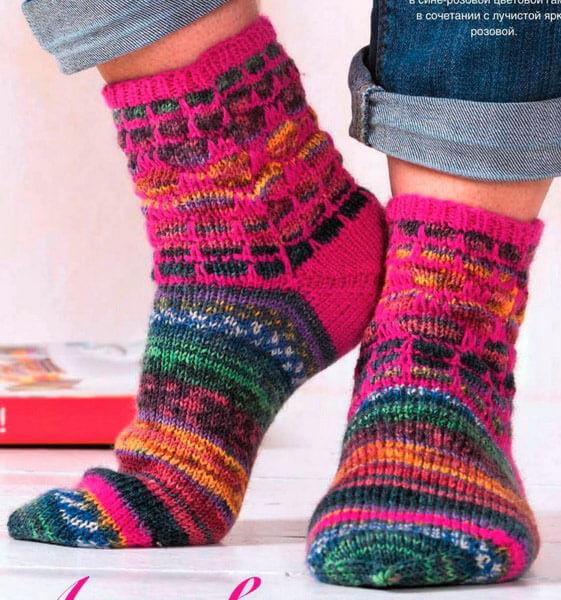 Как связать красивые носки спицами: варианты вязания на 2х и 5ти спицах kak svyazat noski 51