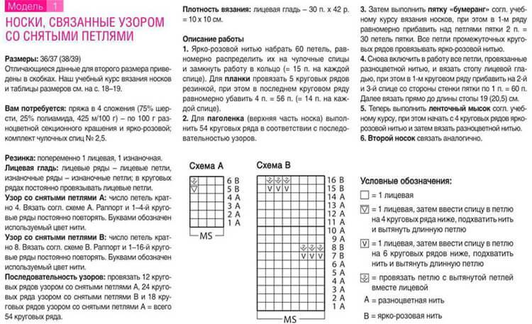 Как связать красивые носки спицами: варианты вязания на 2х и 5ти спицах kak svyazat noski 52