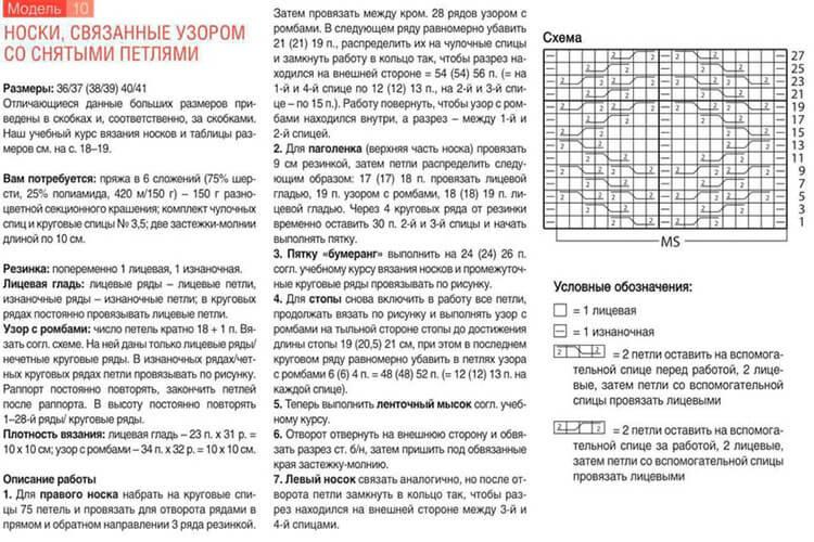 Как связать красивые носки спицами: варианты вязания на 2х и 5ти спицах kak svyazat noski 54