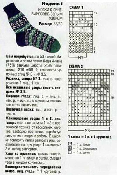 Как связать красивые носки спицами: варианты вязания на 2х и 5ти спицах kak svyazat noski 61 1