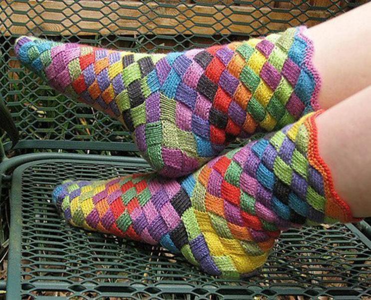 Как связать красивые носки спицами: варианты вязания на 2х и 5ти спицах kak svyazat noski 68