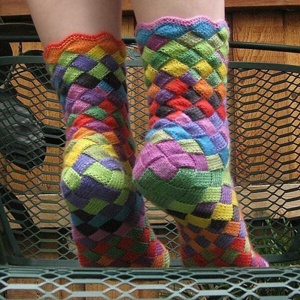 Как связать красивые носки спицами: варианты вязания на 2х и 5ти спицах kak svyazat noski 73