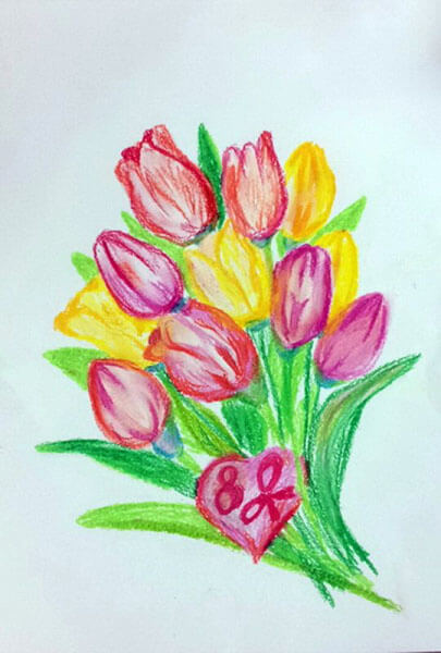 Что можно нарисовать на 8 марта для мамы и бабушки risunki k 8 marta 11
