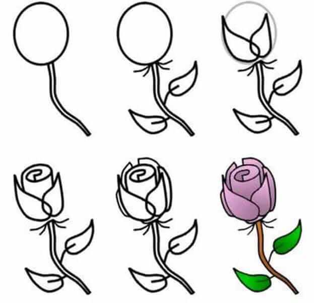 Что можно нарисовать на 8 марта для мамы и бабушки risunki k 8 marta 26