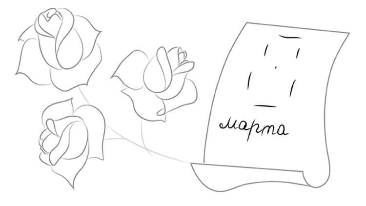 Что можно нарисовать на 8 марта для мамы и бабушки risunki k 8 marta 43