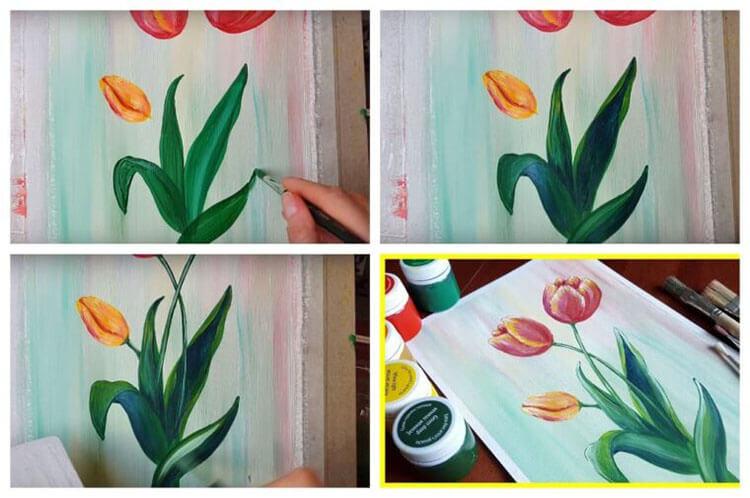 Что можно нарисовать на 8 марта для мамы и бабушки risunki k 8 marta 50