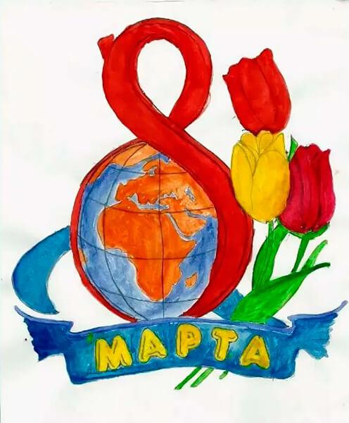 Что можно нарисовать на 8 марта для мамы и бабушки risunki k 8 marta 63