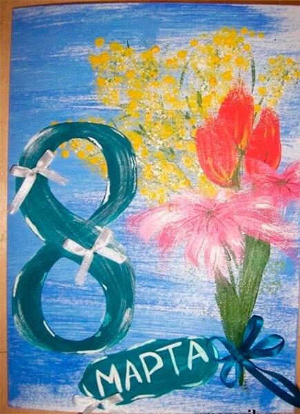 Что можно нарисовать на 8 марта для мамы и бабушки risunki k 8 marta 67