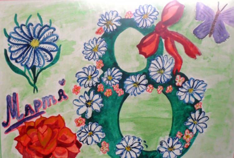 Что можно нарисовать на 8 марта для мамы и бабушки risunki k 8 marta 70