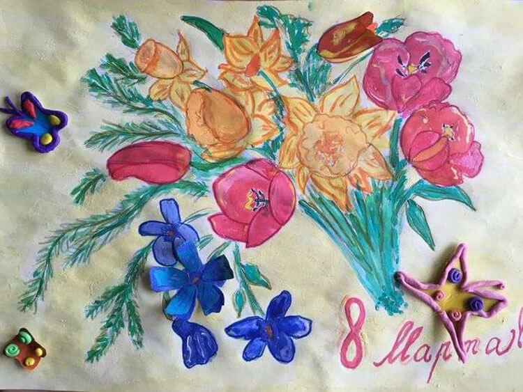 Что можно нарисовать на 8 марта для мамы и бабушки risunki k 8 marta 71