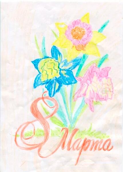 Что можно нарисовать на 8 марта для мамы и бабушки risunki k 8 marta 8