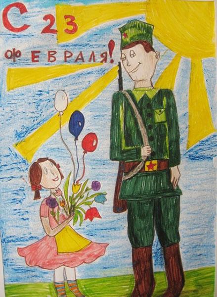 Красивые рисунки на 23 февраля для садика и школы risunok na 23 fevralya 10