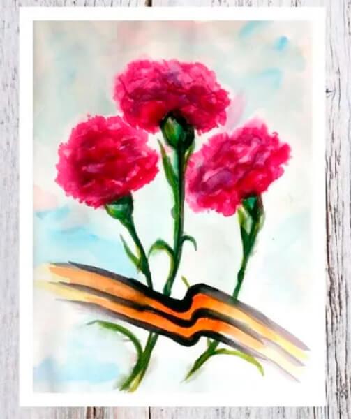 Красивые рисунки на 23 февраля для садика и школы risunok na 23 fevralya 100