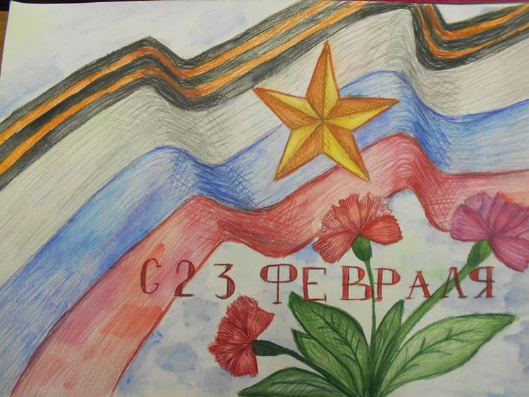 Красивые рисунки на 23 февраля для садика и школы risunok na 23 fevralya 106