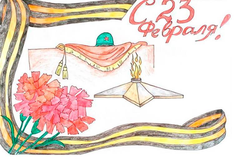 Красивые рисунки на 23 февраля для садика и школы risunok na 23 fevralya 122
