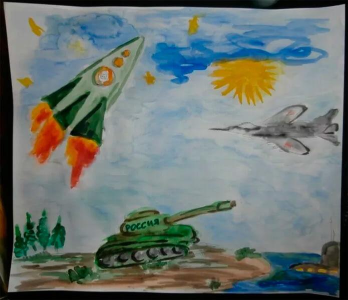 Красивые рисунки на 23 февраля для садика и школы risunok na 23 fevralya 133