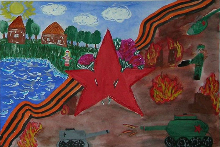 Красивые рисунки на 23 февраля для садика и школы risunok na 23 fevralya 134